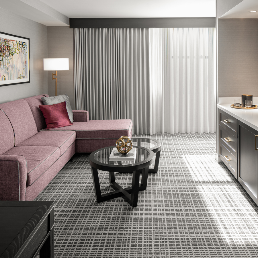One King, One Bedroom Suite living area